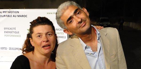 Anna-Gael Rio qui coordonne le contrôle et Nacer Amiar qui gére l'organisation générale de Tanjazz