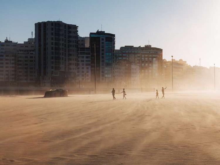Plage de la baie de Tanger