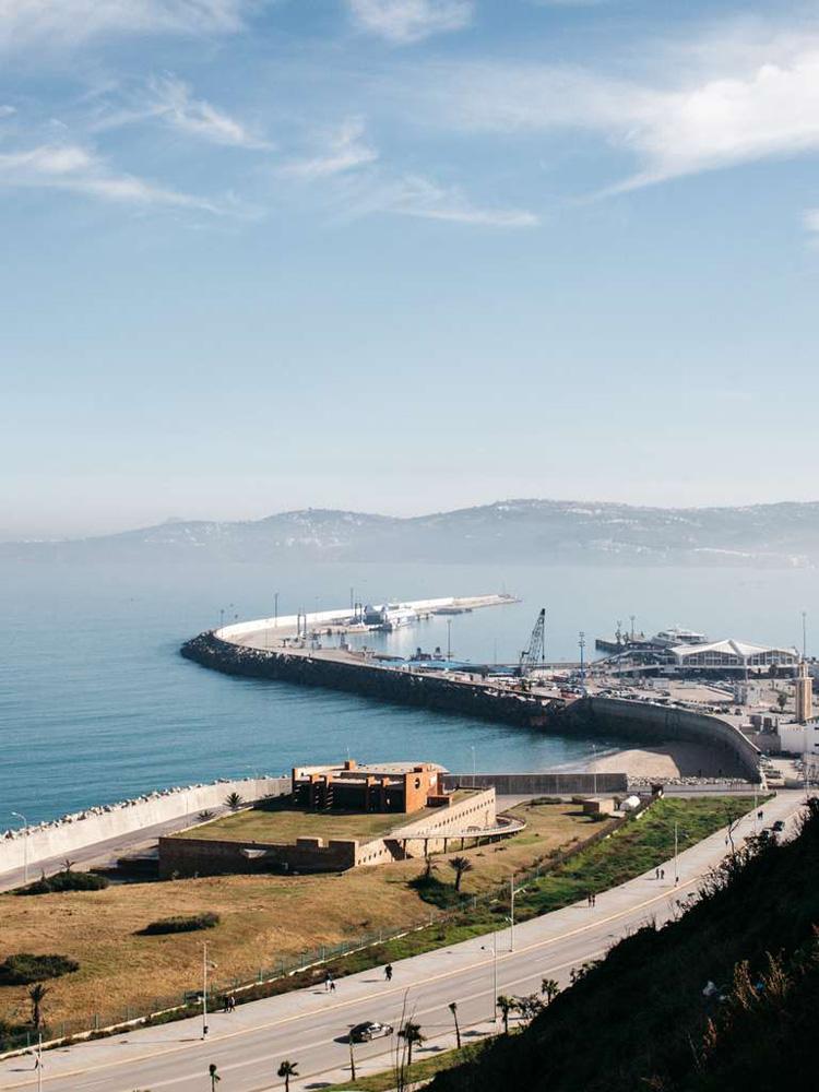 Port de Tanger et centrale d'épuration