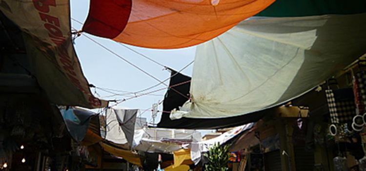 Sous les voiles de Casa Barata…