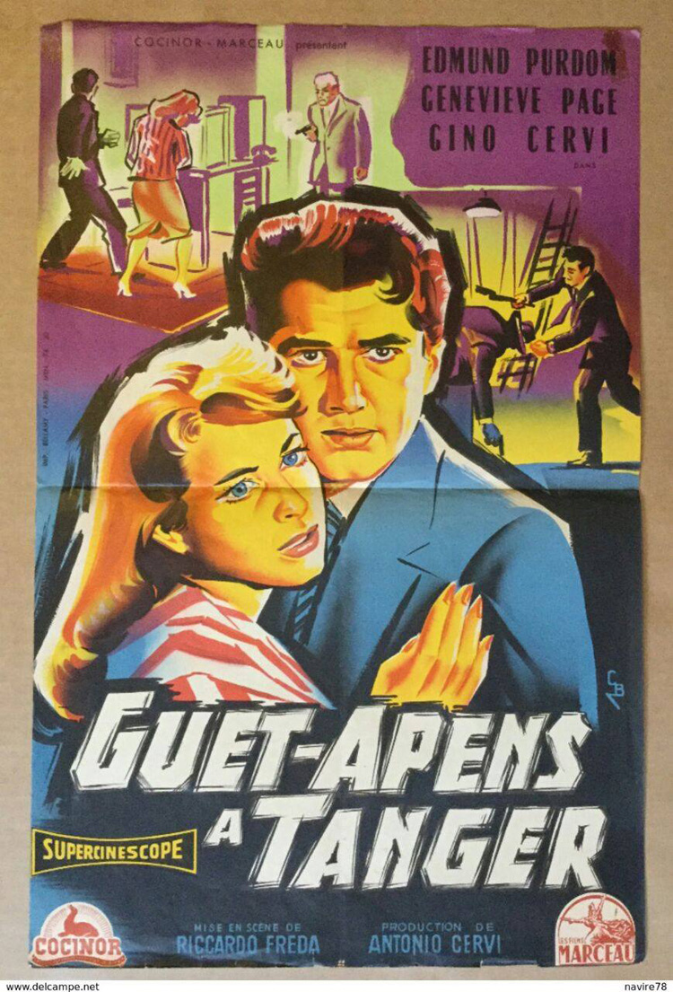 Affiche de cinéma ancienne sur Tanger