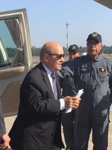 Jean-Yves le Drian survole la ligne LGV Tanger-Casablanca en essai dynamique