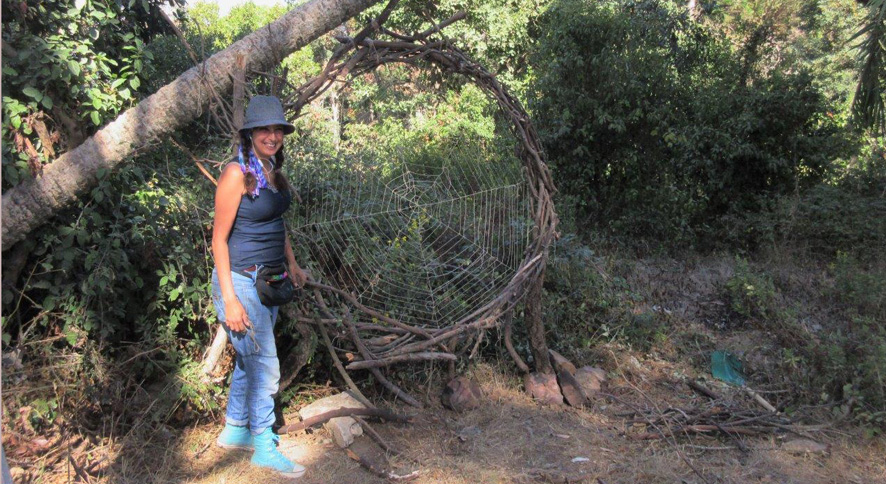 Sanae ALMAMI et sa toile araignée à Perdicaris