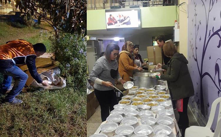 Réalisation des repas et distribution