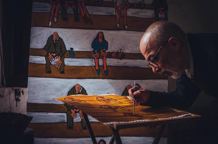 Freaky dans son atelier de Tétouan