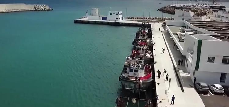 Le nouveau port de pêche de Tanger, enfin inauguré.