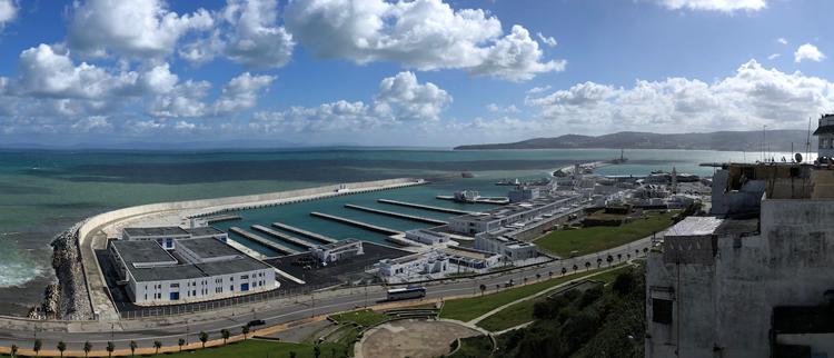 Le nouveau port de pêche de Tanger en avril 2018