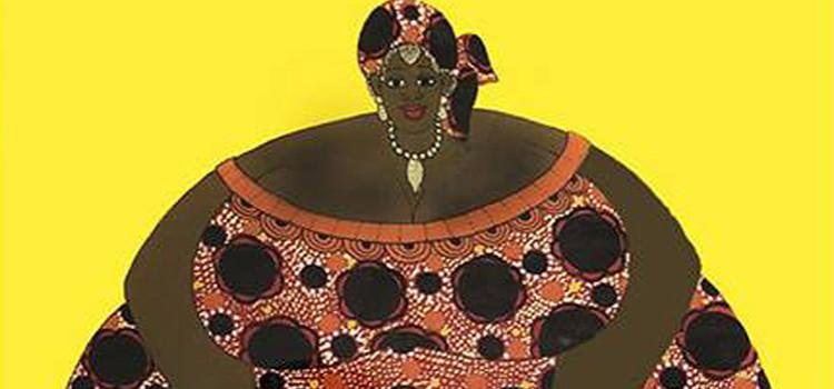 Teranga, peintures sur verre de Mamoune Gueye chez Artingis