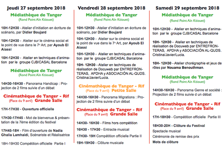 Programme Tanjazoom 2018