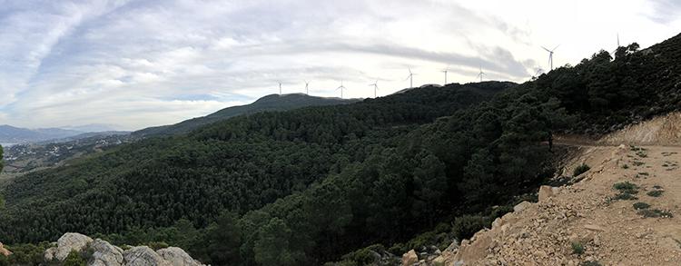 Eoliennes dans la région deTanger