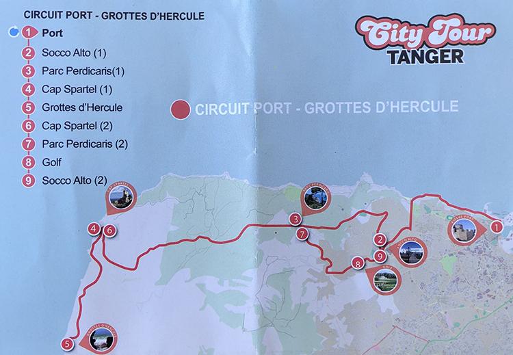 City Tour Tanger circuit Port Grottes d'Hercule