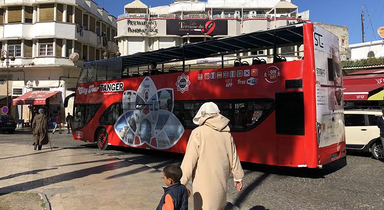 Le bus du City Tour de Tanger