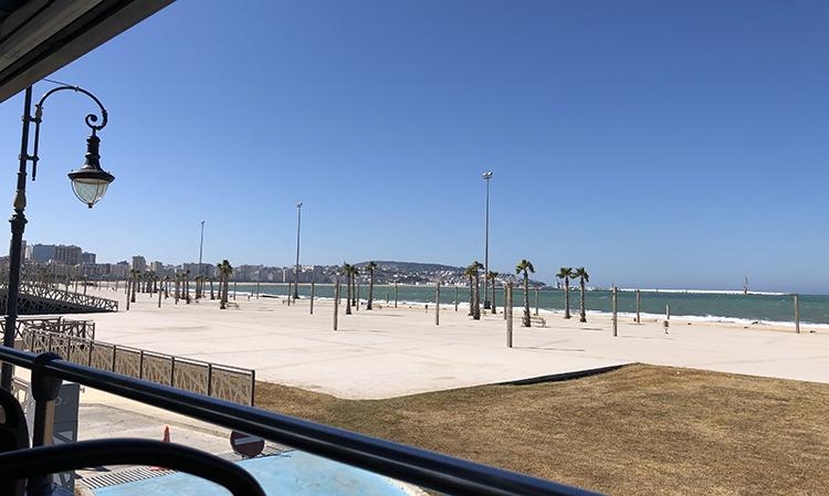 La corniche de la baie de Tanger