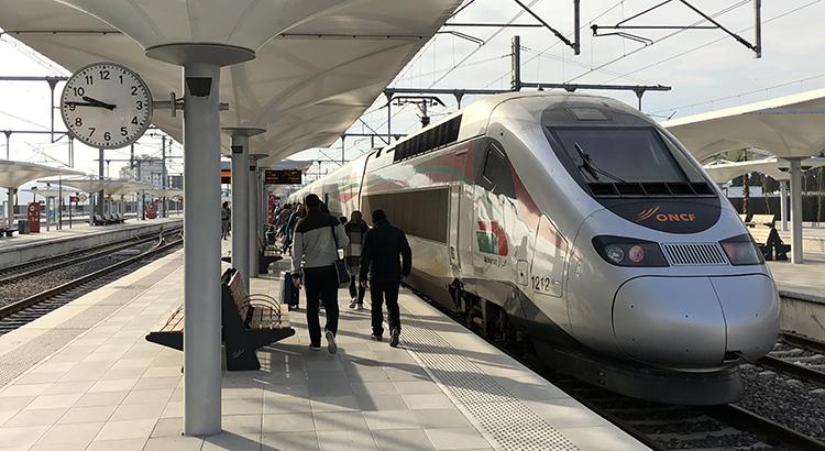 Le TGV au départ de Tanger