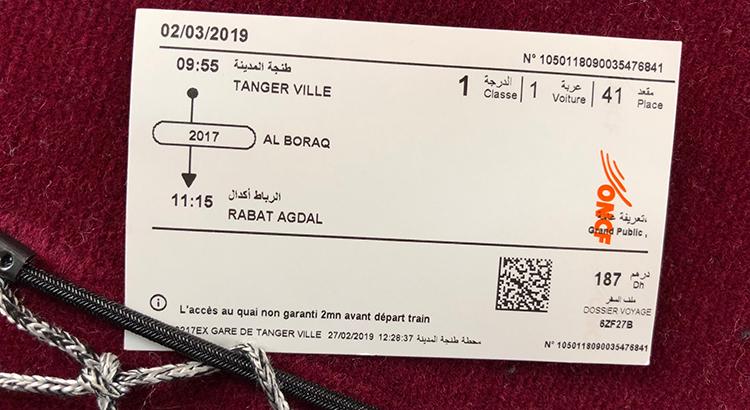 187 DH pour aller de Tanger à Rabat en 1h20