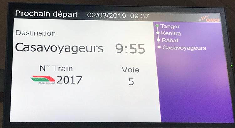 Le TGV Tanger-Rabat de 9h55