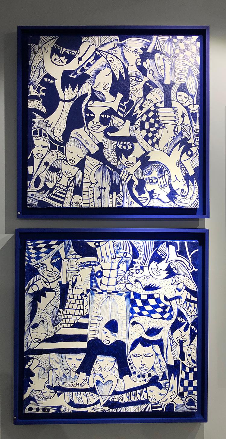Oeuvre bleue de Ben Malek