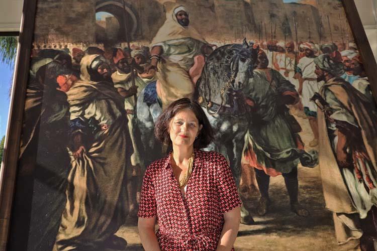 """Conférence inaugurale d'un colloque international, mercredi (11/09/2019) à Rabat, sous le thème """"La palette marocaine d'Eugène Delacroix de 1832 à 1863"""", organisé par l'Académie du Royaume du Maroc, et animée par le secrétaire perpétuel de l'Académie du Royaume du Maroc, M. Abdeljalil Lahjomri, Mme Dominique de Font-Reaulx, conservateur général au Musée du Louvre à Paris, et Mme Rahma Bourqia, membre de l'académie."""
