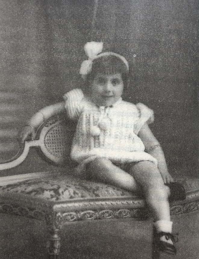 rachel Muyal a l'âge de 3 ans