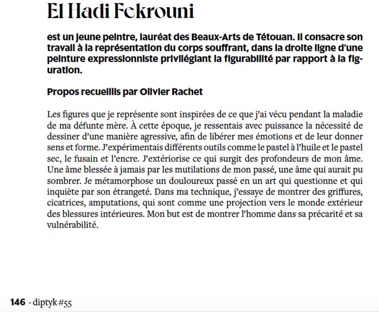 tanger-experience - le web magazine de Tanger - Exposition de El Hadi Fekrouni