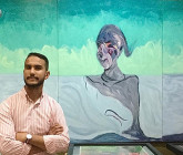 El Hadi Fekrouni, lauréat de l'école des Beaux-arts de Tétouan.