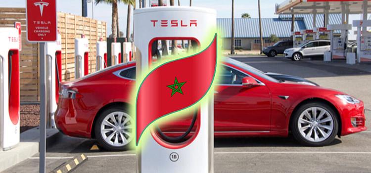 Tesla installe ses premiers superchargeurs à Al Houara Tanger.